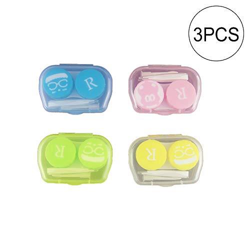 Aufbewahrungsbox für Kontaktlinsen, 3 Packungen, Farbauswahl zufällig