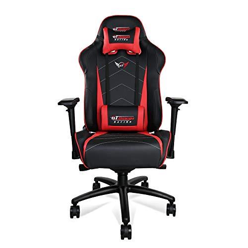 GT Omega Pro XL Racing sedia da ufficio Nero e Rosso del sedile per giocatori
