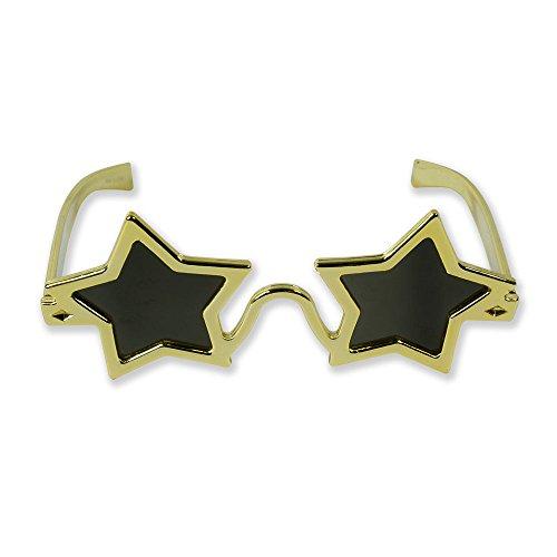 Bristol Novelty BA504 Stern Brille, Gold, Unisex- Erwachsene, Einheitsgröße