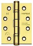 JUVA Türscharnier Edelstahl Messing poliert Aufschraubband Startec DHB3223 für ungefälzte Innentüren | Tragkraft bis 120 kg | 1 Stück - Scharnier mit Schrauben