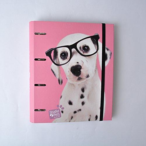 Grupo Erik Editores Studio Pets - Carpeta con 4 anillas troquelada con diseño perro, 32 x 27.5 cm