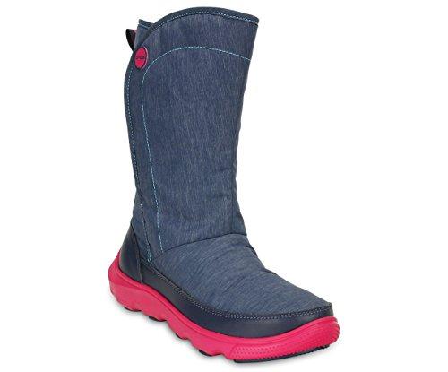Crocs - Duet Busy Day Boot W, Stivali Donna Blu (bleu (marina Náutica / Rosa))