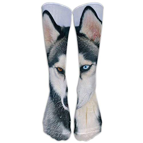 Siberian Husky Unisex Knee High Socks Fashion 3D Print Winter Long Sports Stockings Football Sock
