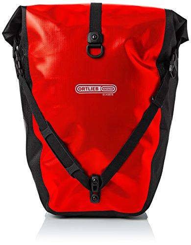 Ortlieb Erwachsene Gepäckträgertasche Back-Roller Classic QL2.1 Paar, Rot/Schwarz, 42 x 32 x 17 cm, 40 Liter, F5302
