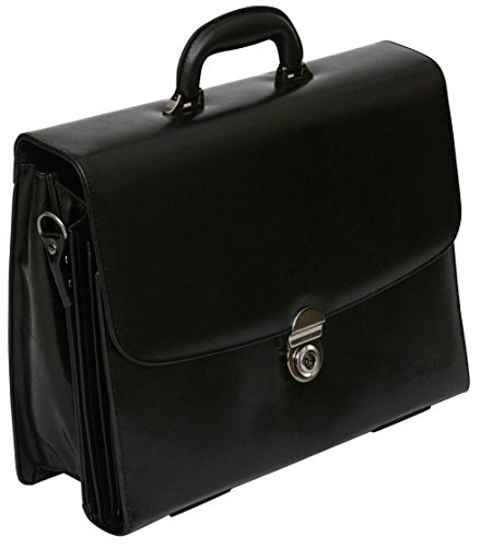 bonded-leather-156-laptop-briefcase-business-case-flapover-work-bag-black