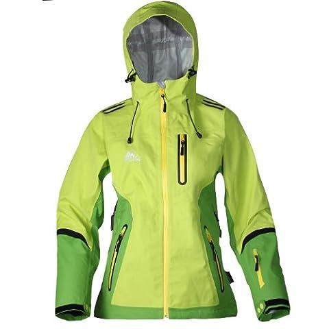 Cox Swain Damen 3 Lagen Titanium Funktions/Hardshelljacke Kabru 10.000 Wassersäule 5.000 Atmungsakt., Farbe: Green, Größe: XL