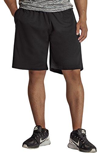 KomPrexx Sporthose Herren Kurz mit Taschen - SCHNELL TROCKNEND - Fitness Sport Shorts mit Kordelzug Kurze Trainingshose (Black,XL)