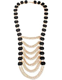"Young & Forever ""Paradiso Collection"" Diwali Gifts Special Bold & Beautiful Black Magic Statement Necklace For..."