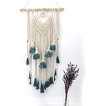 Beatie Tapiz Macrame Cortinas, macramé Pared Colgar Decor Textile, Wall Hanging Handmade macramé Tipo