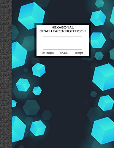 Hexagonal Graph Paper Notebook: 1/4 Inches Hexagons Grid Journal (Composition Notebooks, Band 1)