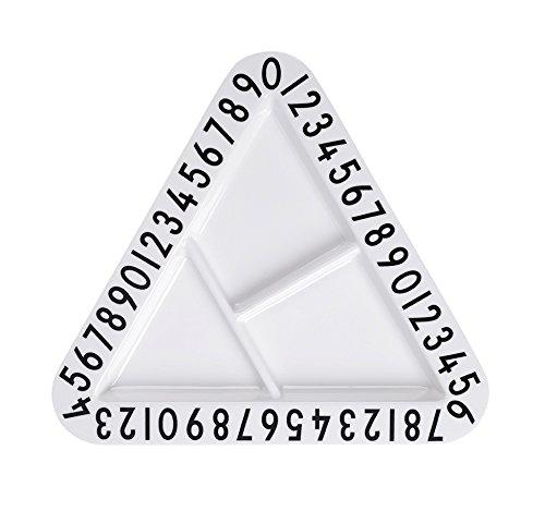 Design Letters AJ melamin triangular snackplate