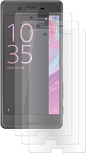 ENERGMiX Folie kompatibel mit Sony Xperia XA // Kristallklar (3 Stück) Schutzfolien Displayfolie
