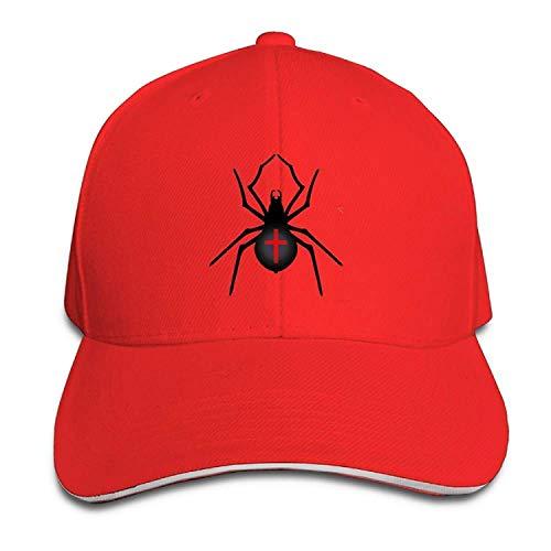 Gorgeous ornaments Men's Women's Halloween Spider Cotton Adjustable Peaked Baseball Cap Adult Sandwich Hat