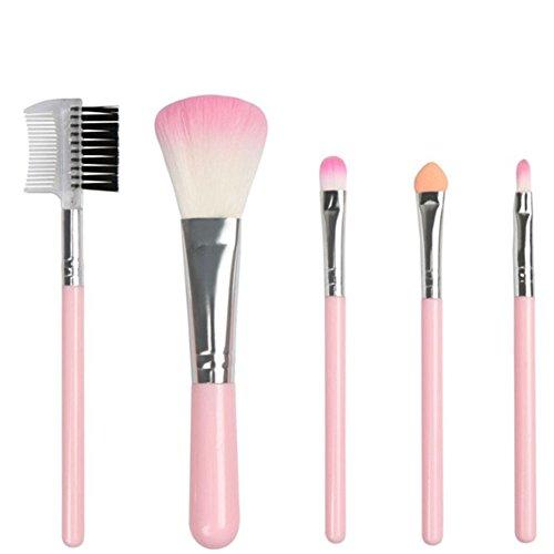 DaoRier 5 Stück Lippenpinsel Augen Make-up Pinsel Bürsten Kosmetikpinsel Schminkpinsel Professionelle Schmink Pinselsets Beauty Tools für Damit Du schöner Bist