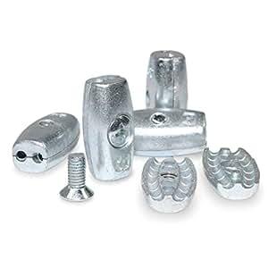 Seilwerk STANKE 10x 4mm Drahtseilklemme Eiform -- Seilklemme Drahtseilklemmen Drahtseil Stahlseil Aluminium Klemme Seil Draht Seilverbinder