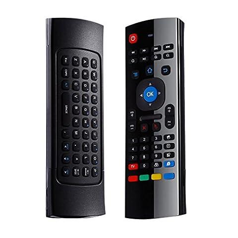 Mini 2,4G Wireless Multifunktions - Tastatur LESHP mini drahtlose Tastatur Maus Fernbedienung mit Infrarot-Fernlern Air Control für PC HTPC IPTV Smart TV Android TV Box Media