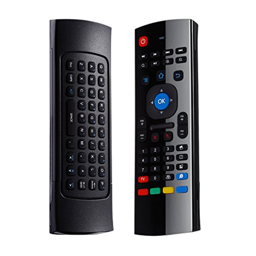 Mini 2,4G Wireless Multifunktions - Tastatur LESHP mini drahtlose Tastatur Maus Fernbedienung mit Infrarot-Fernlern Air Control für PC HTPC IPTV Smart TV Android TV Box Media Player (Universal Media Server)
