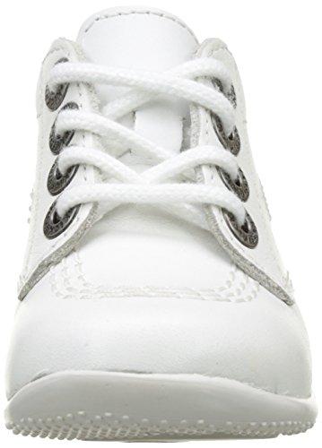 Kickers Billy, Bottillons Bébé Fille Blanc (Blanc)