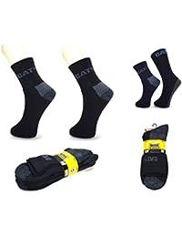 CAT Caterpillar 3|6|9|12|24 Paar kurze Arbeitssocken, Schwarz , 41-45 oder 46-50 (Übergröße), Quarter WORK Socks, verstärkte Spitze+Ferse für langen Halt in Stahlkappenschuhen !