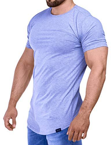 D.K Fit Premium Herren Oversize T-Shirt - Muscle Fit - Perfekt für deinen trainierten Körper (Large, Grey)
