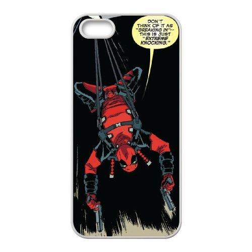 Deadpool coque iPhone 5 5S Housse Blanc téléphone portable couverture de cas coque EBDXJKNBO12119