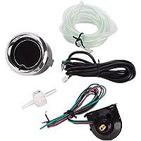 MagiDeal Indicador de Impulso de Turbo con LED Retroiluminación 7 Color 2 52mm Calibrador