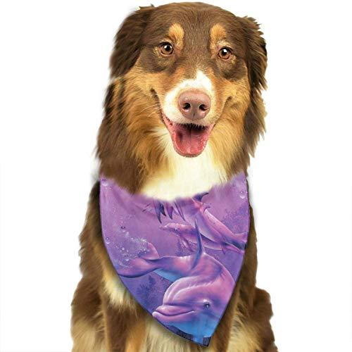 rwwrewre Hundehalsbänder Hunde Halstuch,Dolphins Art Kerchief Fantasy Suit Bibs,Soft Head Scarfs Accessories Pet bib Pet Supplies