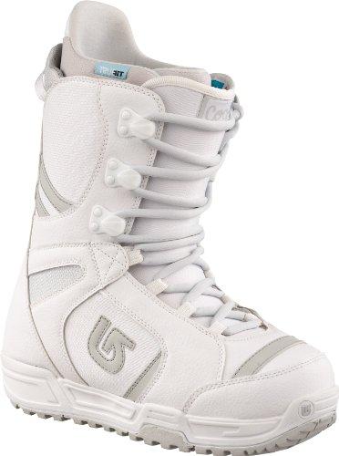 Burton - Scarponi da Snowboard Coco, Donna, Bianco (Bianco/Argento), 37