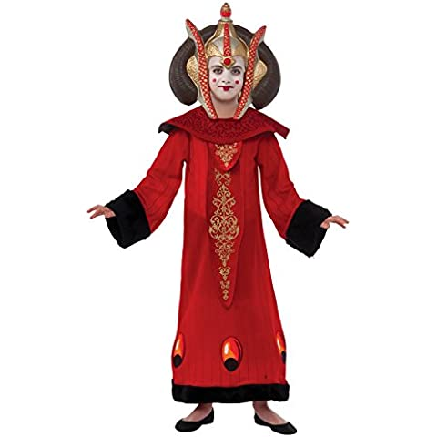 Rubie's Costume Star Wars Kid's Deluxe Queen Amidala Costume, One Color, Small by Rubie's Costume (Amidala Bambino Costume)