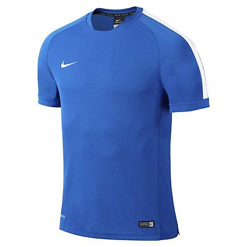 Nike T-Shirt Flash Squad 15 Kinder Kurzarm Fußball Trainingshirt, Royalblau/Blau, S