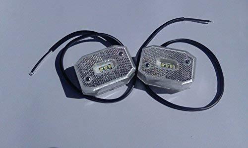 LED Begrenzungsleuchten Weiß 2 Stück Umrissleuchten Seitenmarkierungsleuchten PKW Anhänger Wohnwagen Anhänger LKW Nutzfahrzeuge Trailer