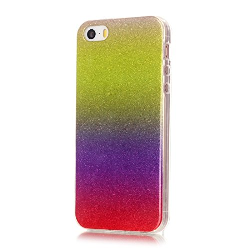 iPhone Case Cover Pour iPhone 5 & 5s & SE IMD Couleurs Fades Glitter Poudre TPU Étui de protection ( SKU : IP5G9966C ) IP5G9966F