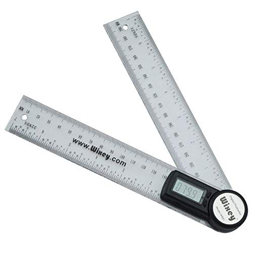 Winkel Artikel Wixey Digital Winkelmesser 200 mm/20.32 cm Durchmesser, mit transparentem Kunststoff WR41 Artikel