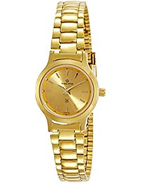 Maxima Analog Gold Dial Women's Watch - 04630CMLY