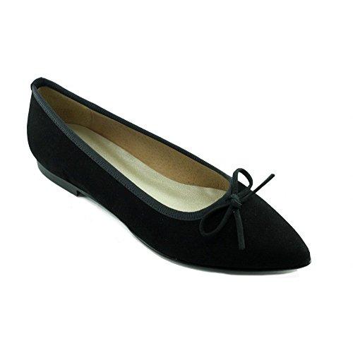 Angelina® Lena Ballerines Noir Pointue - Petites & Grandes Pointures N-Noir