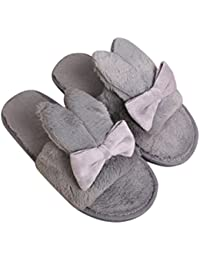 1b63dd2dcf857 OverDose Noués Chaussons Antiderapant Femmes Chaussons Animaux Peluche Pantoufle  Souple Chaussures Easy Peasy Slippers