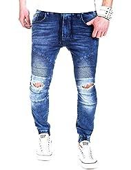 MT Styles Jogg-Jeans Biker pantalon RJ-2082