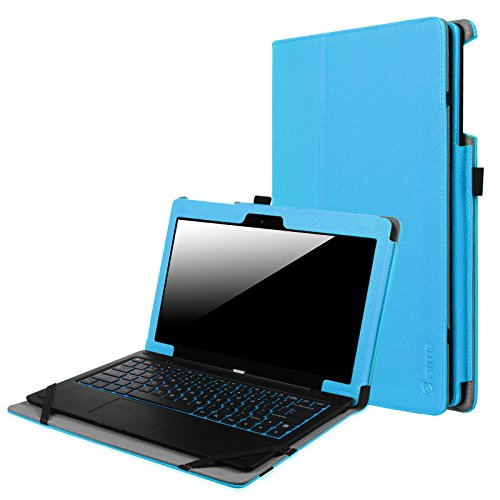 Fintie Odys Winpad 12 Hülle Case - Slim Fit Folio Premium Kunstleder Tastatur Ständer Schutzhülle Cover Tasche für Odys Winpad 12 / Odys Evolution 12 - 2in1 11,6 Zoll (29,5 cm) Convertible Tablet-PC, Blau