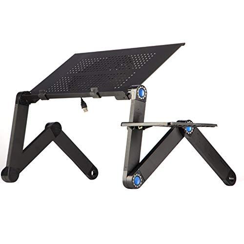 LWAN3 Laptop-Ständer und Mauspad, tragbarer Multifunktionstisch, Bettgestell, verstellbare Erhöhung, faltbares Frühstückstablett, Outdoor Camping Tisch - Schwarz - Stand Adjustable Keyboard Tray