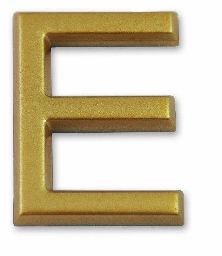 """Symbol LD37E Buchstabe """"E"""" - Goldfarbener selbsthaftender Kunststoff - Höhe 37 mm"""