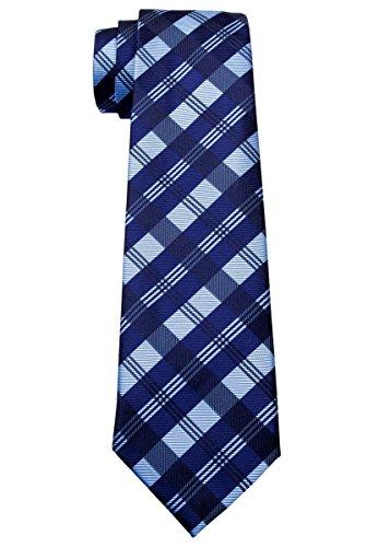 Tela escocesa patrones Tejido corbata de niño–8–10años–Varios colores - Azul -