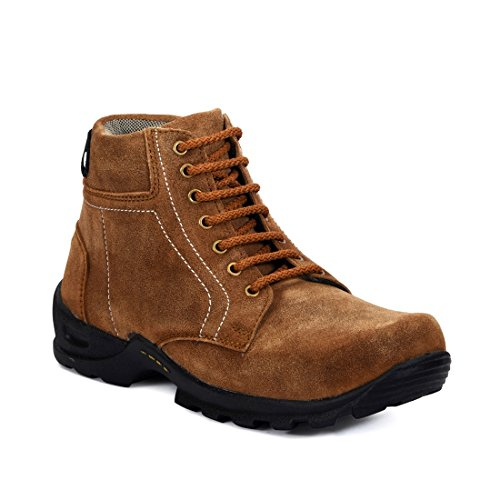 Bacca Bucci Men Suede Leather Brown Boots 09 UK  available at amazon for Rs.649