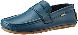 U.S. Polo Assn. Mens Blue Leather Loafers and Moccasins - 7 UK/India (41 EU)