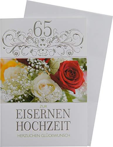 Horn Glückwunschkarte 65 Eiserne Hochzeit 93-H1005