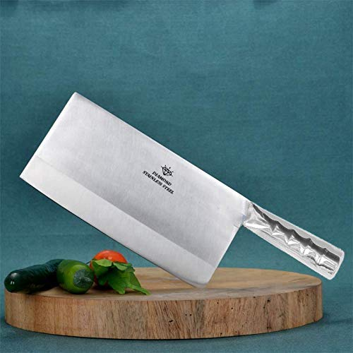 A & Y Traders Heavy Duty Stainless Steel Chef's Chopper/Knife/Meat Cleaver 7''/3.5'