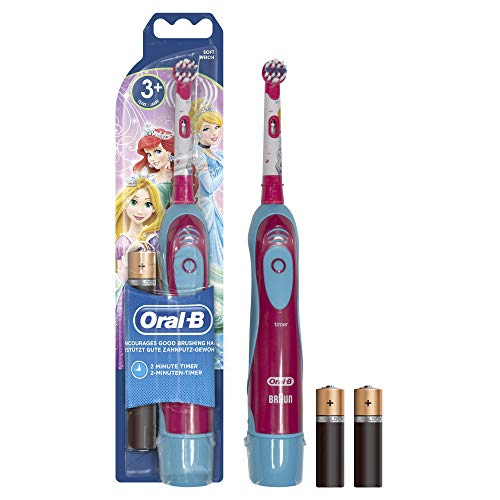 Oral-B Stages Power Spazzolino a Batteria per Bambini con Principesse o Personaggi Cars Disney, Modelli assortiti, 1 Pezzo