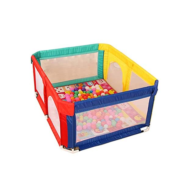 Playpens Safety Baby Playyard, Lightweight, Nursery Center Household Game Fence, Durable Anti-collision, 120×150×70cm Playpens  1