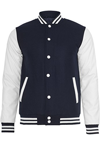 Urban Classics Oldschool College Jacket TB201, Farbe:navy, size:L
