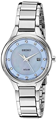Seiko SUT351 - Reloj de Cuarzo japonés para Mujer con Correa de Acero Inoxidable, Color Plateado