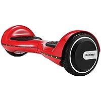 "M MEGAWHEELS Hoverboard , 6.5 "" Patin Electrico Con Bluetooth, Led luces, Gratis Bolsa (Rojo)"